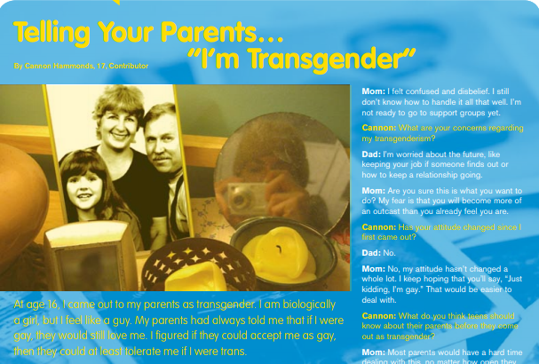 "Telling your parents ""I'm transgender"" (PDF)"